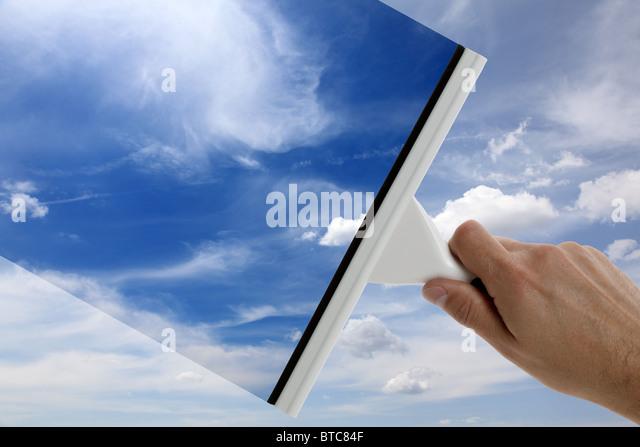 Clear blue sky - Stock-Bilder