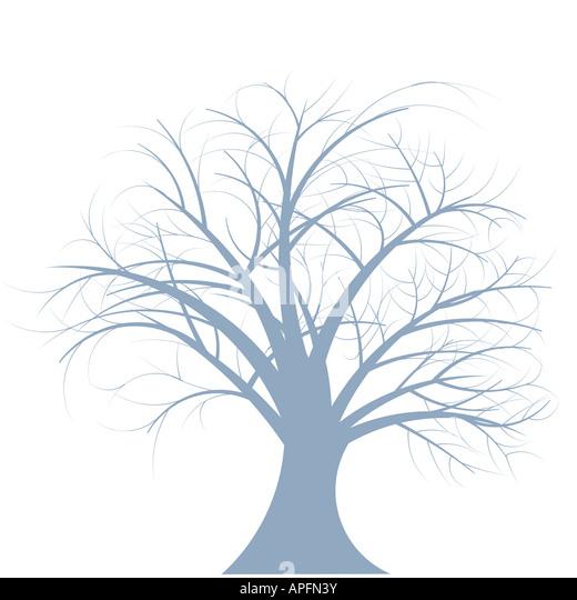 beautiful abstract vector winter tree design - Stock Image