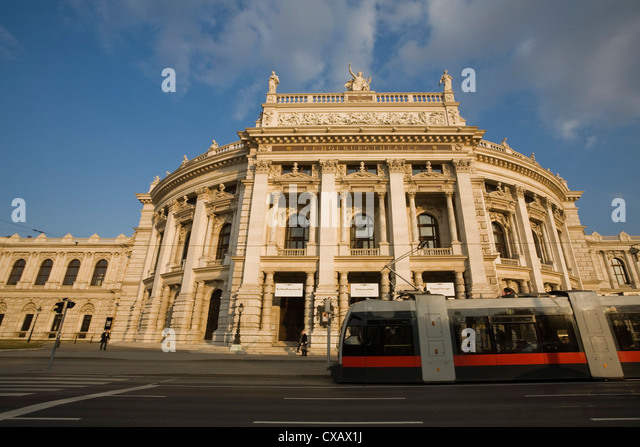 Burgtheater, Vienna, Austria, Europe - Stock Image