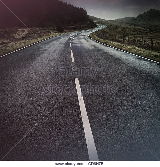 winding road - Stock Image