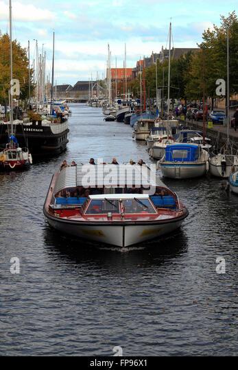 Canal tour, Christianshavn, Copenhagen, Denmark - Stock Image