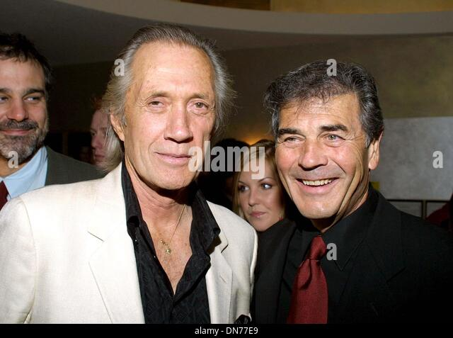 Nov. 24, 2002 - Beverly Hills, CALIFORNIA, USA - DAVID CARRADINE AND ROBERT FORSTER ..K27298TR  NORBY WALTER'S - Stock Image
