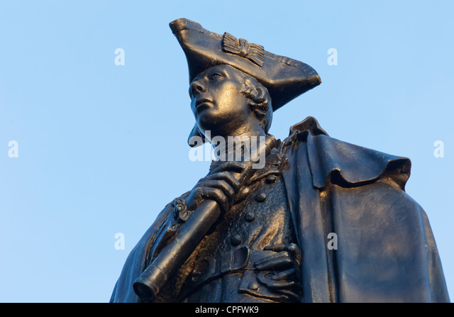 England, London, Greenwich, Greenwich Park, Statue of General James Wolfe - Stock Image
