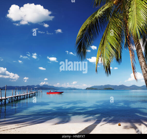 Tropical island, somewhere in Thailand - Stock Image