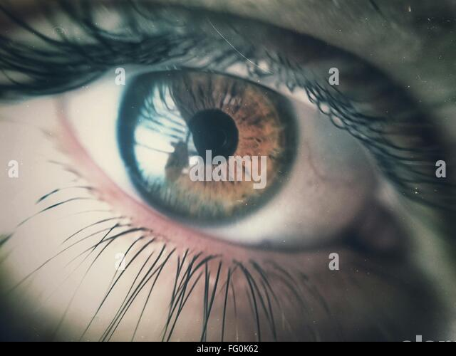 Extreme Close-Up Of Human Eye - Stock Image