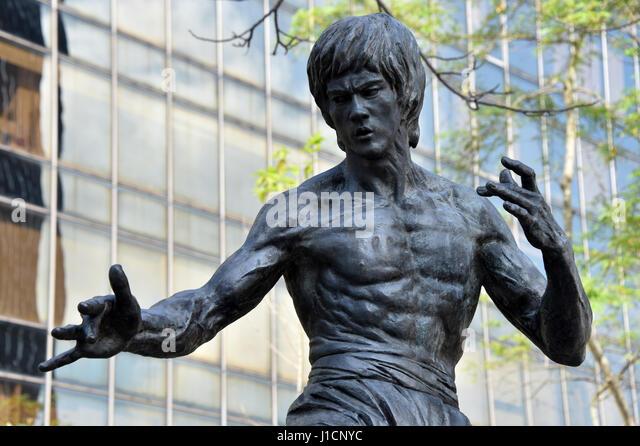 Bruce Lee Statue, Hong Kong - Stock Image