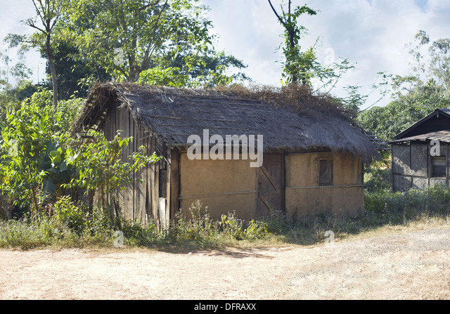 Typical village home india stock photos typical village for Tribal house