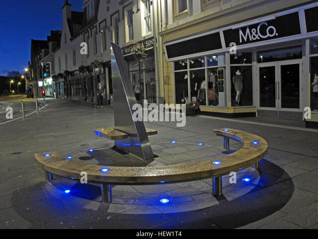 Stornoway Isle Of Lewis Town Centre - Stock Image
