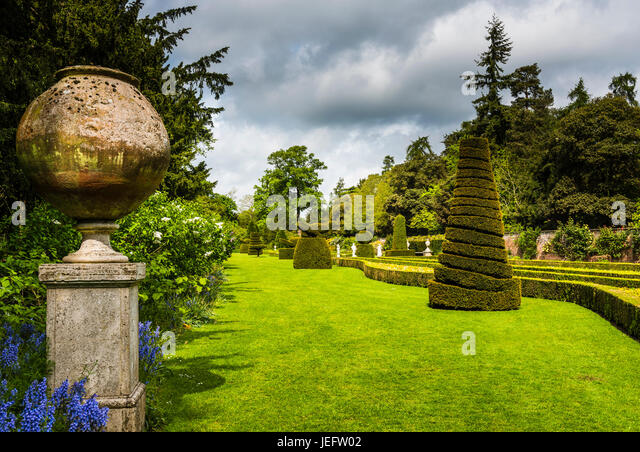 Topiary in the gardens at Cliveden, Buckinghamshire, UK - Stock Image