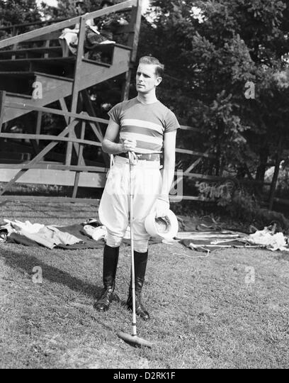 Polo Player, Meadow Brook Club, Westbury, New York, 1939 - Stock Image