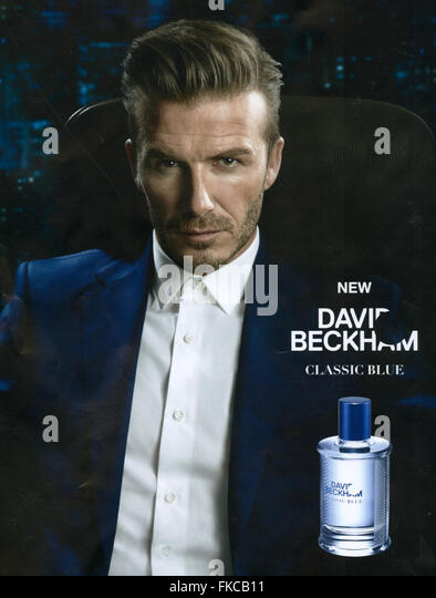 2010s UK David Beckham Magazine Advert - Stock Image