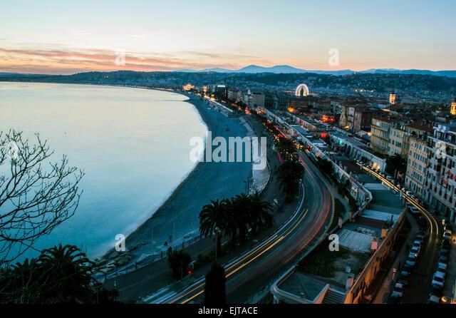 Sunset on Nice - Stock Image