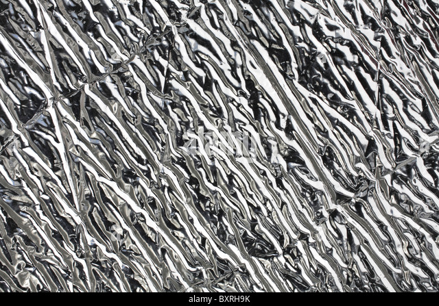 close-up of silver metallic textured pattern - Stock Image