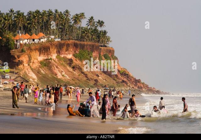 Varkala beach India Kerala - Stock Image