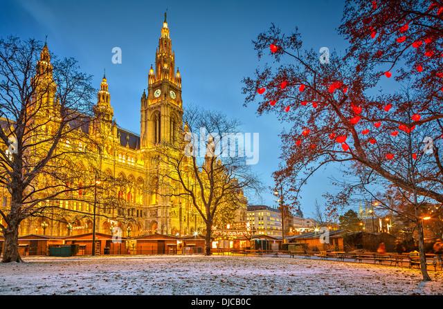 Vienna town hall - Stock Image