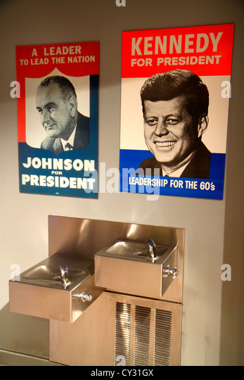 Massachusetts Boston South Boston JFK John F. Kennedy Presidential Library & and Museum exhibit collection political - Stock Image