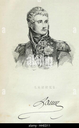 Jean Lannes, Due de Montebello (1769-1809); French soldier; one of Napoleon's commanders - Stock Image