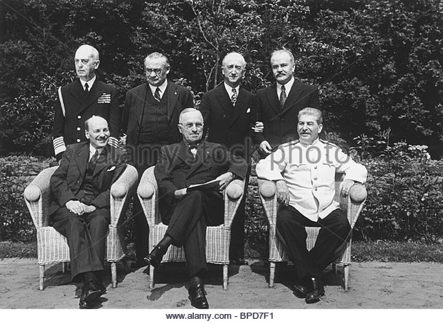 Potsdam conference, 1945 - Stock Image