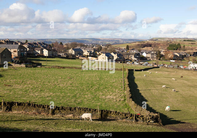 View looking north from Southowram, West Yorkshire - Stock Image
