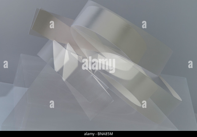Abstract curve development in black and white - Stock Image
