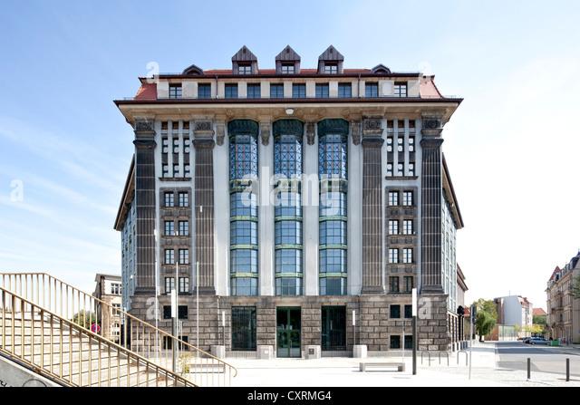 Saxon Main State Archive, Neustadt, Dresden, Saxony, Germany, Europe, PublicGround - Stock Image