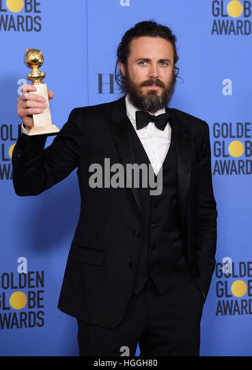 Beverly Hills, CA, USA. 8th Jan, 2017. Casey Affleck. 74th Annual Golden Globes Awards held at the Beverly Hilton - Stock-Bilder
