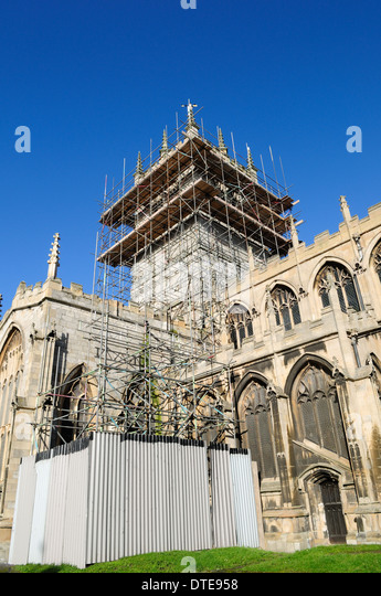 St Swithun Church East Retford, North Nottinghamshire ,UK. - Stock Image