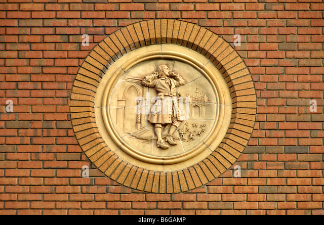 Gullivers travel lilliput story carving Dublin - Stock-Bilder