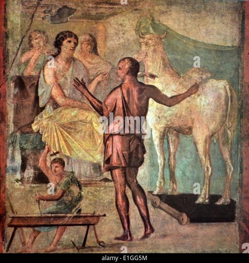 The Minotaur Myth - Stock Image