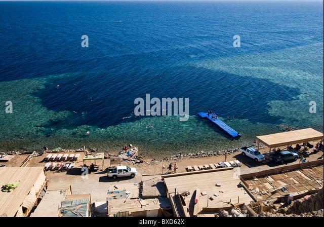 Blue Hole, Dahab, Egypt, Red Sea - Stock Image