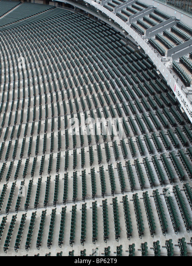 Abstract photos of stadium seats - Stock Image