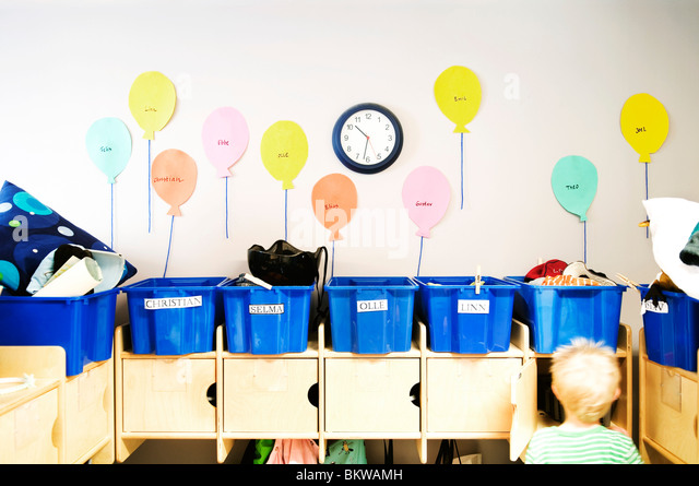 Entry hall on preeschool - Stock Image