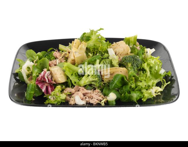 Tuna Salad with Artichoke Hearts - Stock Image