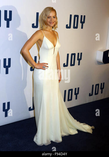 New York, New York, USA. 13th Dec, 2015. Actress JENNIFER LAWRENCE attends the New York premiere of 'Joy' - Stock Image