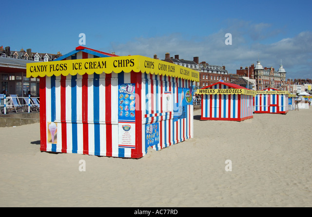 Weymouth seafront tents - Stock Image