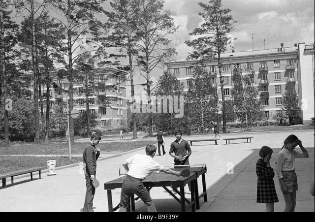 Norilsk children at playground - Stock Image