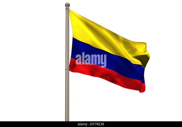 Digitally generated colombia national flag - Stock Image