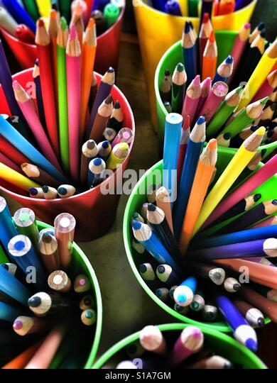 Colouring pencils. - Stock-Bilder