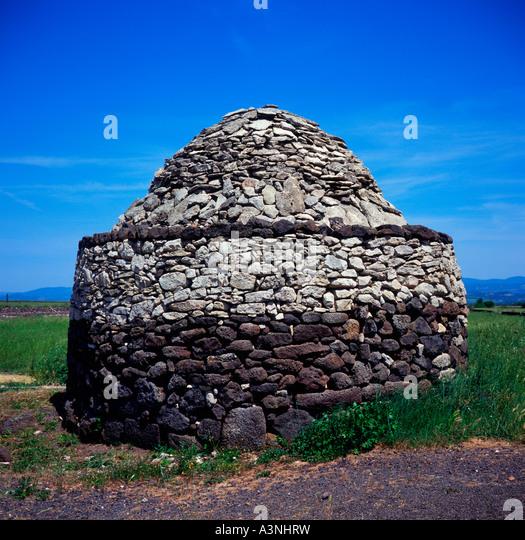 Old stone tower / Torralba-Alghero  - Stock Image