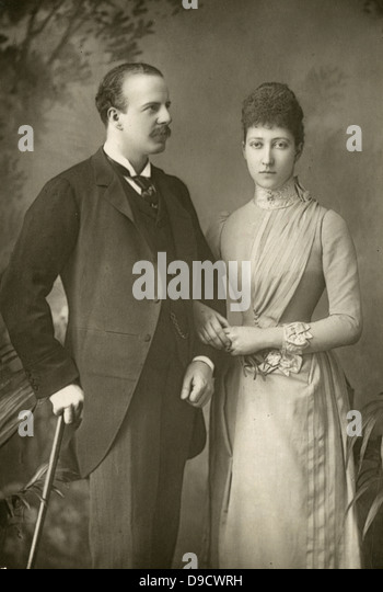 Alexander William George Duff, 1st Duke of Fife (1849-1912) and his Duchess pictured c1890,formerly Princess Louise - Stock Image