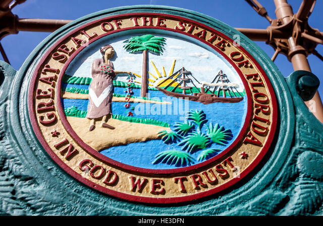 Sanibel Island Florida Lighthouse Sanibel Island Light Point Ybel Light Great Seal State - Stock Image