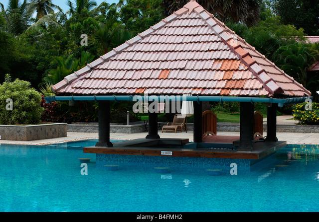 Swimming Pool In A Resort In Kerala India Stock Image