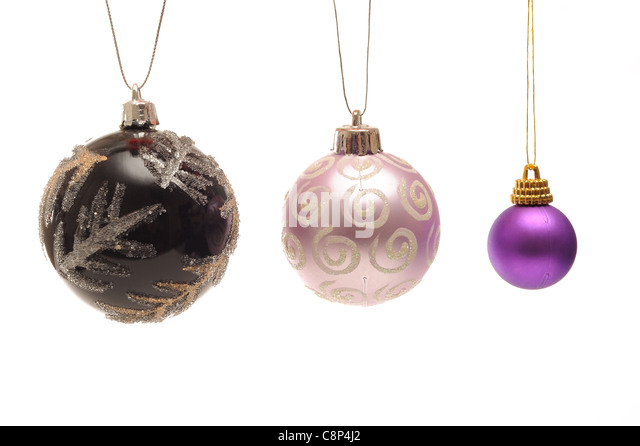 Baubles stock photos baubles stock images alamy for White christmas baubles