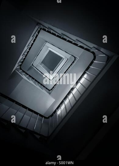 Abstract view of spiral stairs. - Stock-Bilder