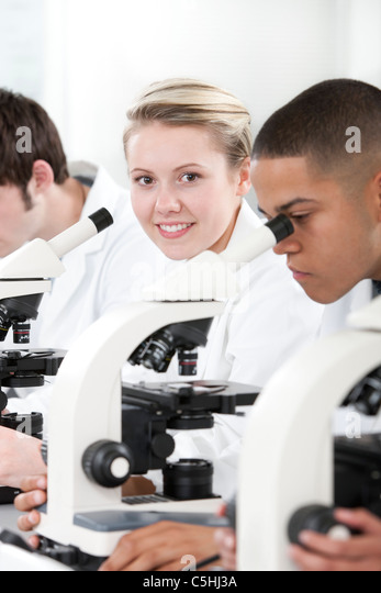 Biology lesson - Stock Image