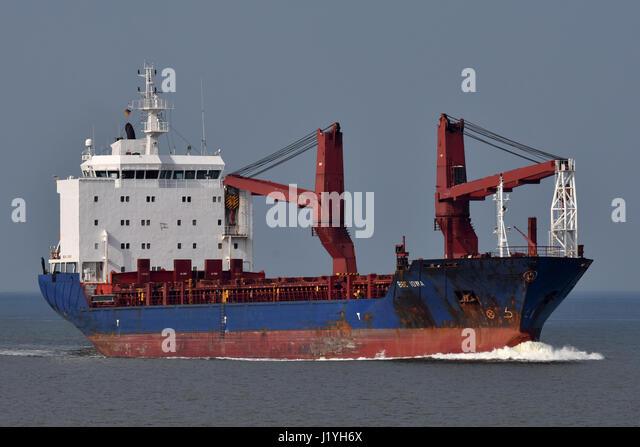 General Cargo Ship BBC Iowa - Stock Image