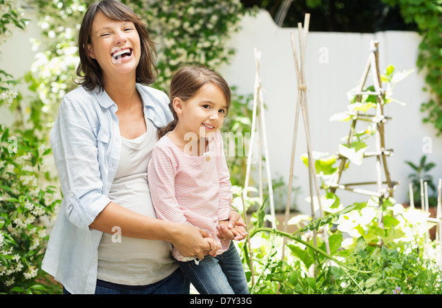Mother Daughter Gardening Stock Photos & Mother Daughter ...