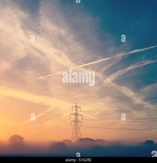 Foggy sunrise - Stock-Bilder