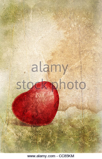 textured red heart - Stock-Bilder