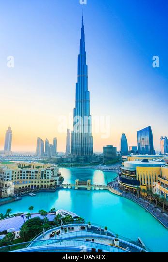 United Arab Emirates, UAE, Dubai, City, downtown, Burj Khalifa, Building, building, Burj, Khalifa, architecture, - Stock Image